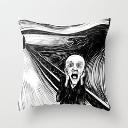The Screamer Throw Pillow