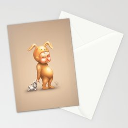 Bunny Kid Stationery Cards