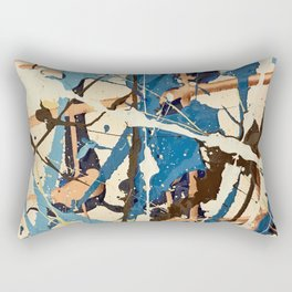 Miniature Original - blue brown Rectangular Pillow
