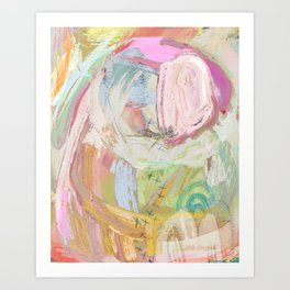 Shapes and Layers no.31 - Abstract paintings with texture Art Print