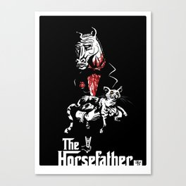 The Godfather of Horses Canvas Print