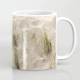 Sandy Beach With Grass Weeds Coffee Mug