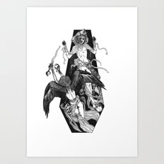 Inverted Coffin Art Print