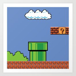 Bitmap Mario Art Print