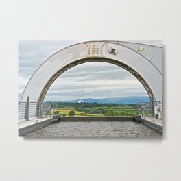 View From The Falkirk Wheel Metal Print