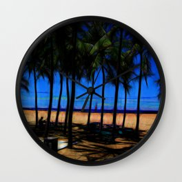 Hawaii Beach At Midday Wall Clock