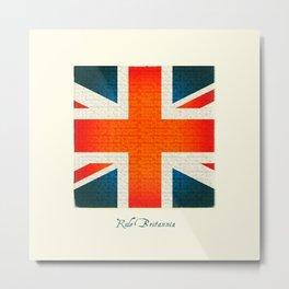 Rule Britannia! (Creme) Metal Print
