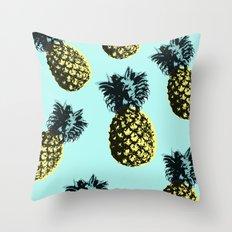 Pineapple Express Aqua Throw Pillow