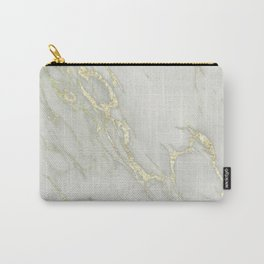 Marble Love Gold Metallic Carry-All Pouch