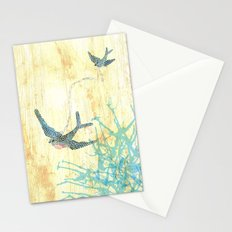 Birds of blue Stationery Cards