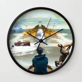 dreamer in Laguna Beach Wall Clock