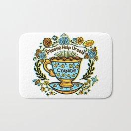 Poison of Choice: Cyanide TeaCup Bath Mat