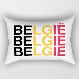 BELGIUM Flag Rectangular Pillow