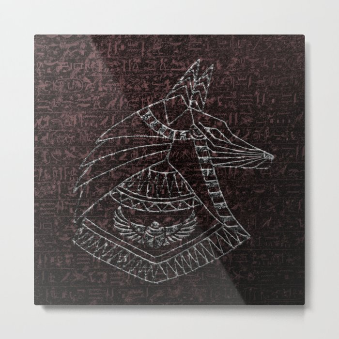 Anubis Egyptian God Metal Print