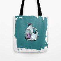 milk Tote Bags featuring Milk by Keanu Lee