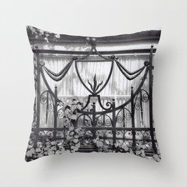 a window in providence Throw Pillow