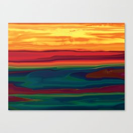 Sunset in Ottawa Vally Canvas Print