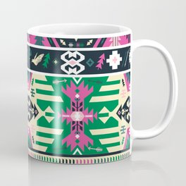Fancy abstract geometric vector pattern in tribal style Coffee Mug