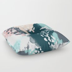 August - abstract minimal trendy color palette hipster home decor Floor Pillow