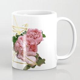 Geometric Peonies Coffee Mug