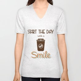 coffee time Unisex V-Neck