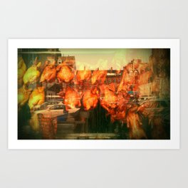 CHINATOWN / BOSTON. Art Print