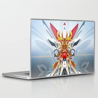 gundam Laptop & iPad Skins featuring Monark by Andre Villanueva
