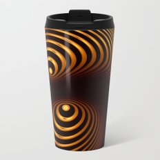 Abstract in copper tones Metal Travel Mug