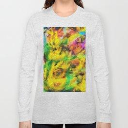 Sunflowers abstract Long Sleeve T-shirt