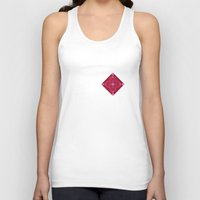 coachella Tank Tops featuring ornament red pink by Alexandr-Az