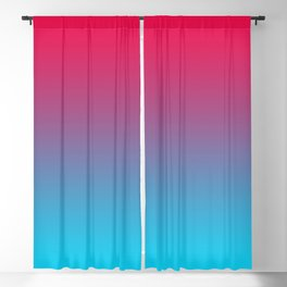 Pink and Sky-Blue Gradient 009 Blackout Curtain
