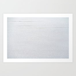 Snow Glitter Art Print