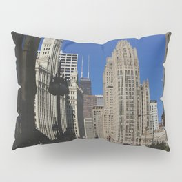 Michigan Avenue Sunshine and Shadows (Chicago Architecture Collection) Pillow Sham