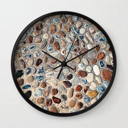 Pebble Rock Flooring II Wall Clock
