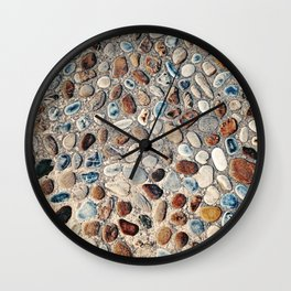 Pebble Rock Flooring II Wall Clock