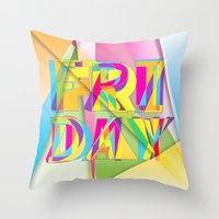 friday Throw Pillows featuring Friday by Cohen McDonald