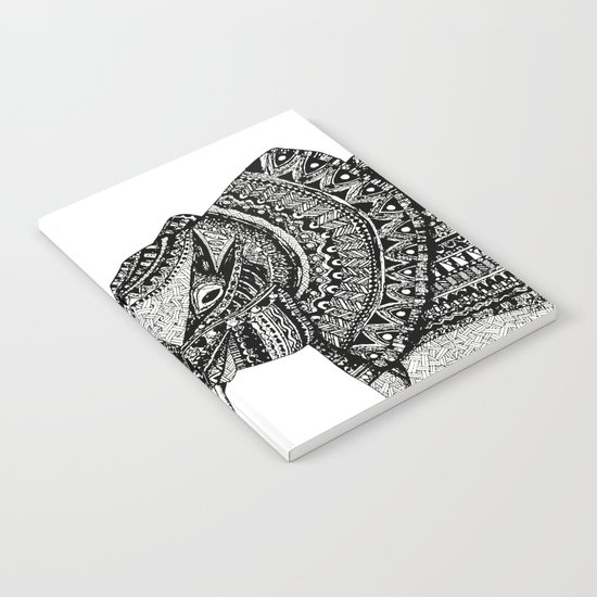 Allison Elephant Black and White Notebook