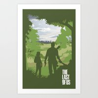 the last of us Art Prints featuring The Last Of Us by Pixel Design