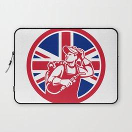 British Lit Operator Union Jack Flag Icon Laptop Sleeve