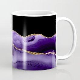 Watercolor Agate, Vibrant Purple Faux Gold Veins Coffee Mug