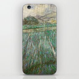 Vincent Van Gogh Wheat Field In Rain iPhone Skin