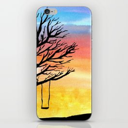 Sunset and Swing iPhone Skin