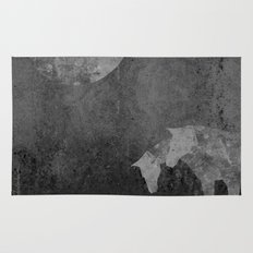Moon with Horses in Grays Rug