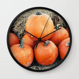 Vintage Pumpkin Pile Wall Clock