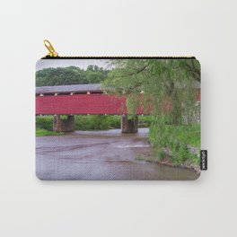 Wehr's Covered Bridge Over a Creek Carry-All Pouch