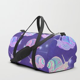 Psychedelic Galaxy Snail Duffle Bag