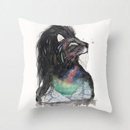 Realis the Aurora Lion. Throw Pillow