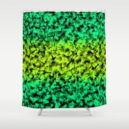 Lovely green geometrical abstract shapes pretty elegant feminine pattern design. Shower Curtain
