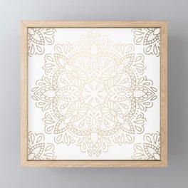 Mandala White Gold Shimmer by Nature Magick Framed Mini Art Print
