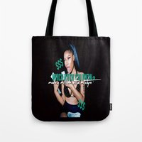 minaj Tote Bags featuring Up All Night by Nicki Minaj Spain
